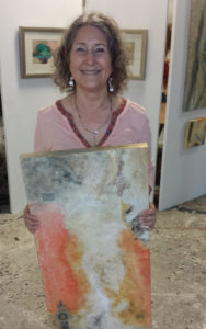 Jan with Fire of God painting